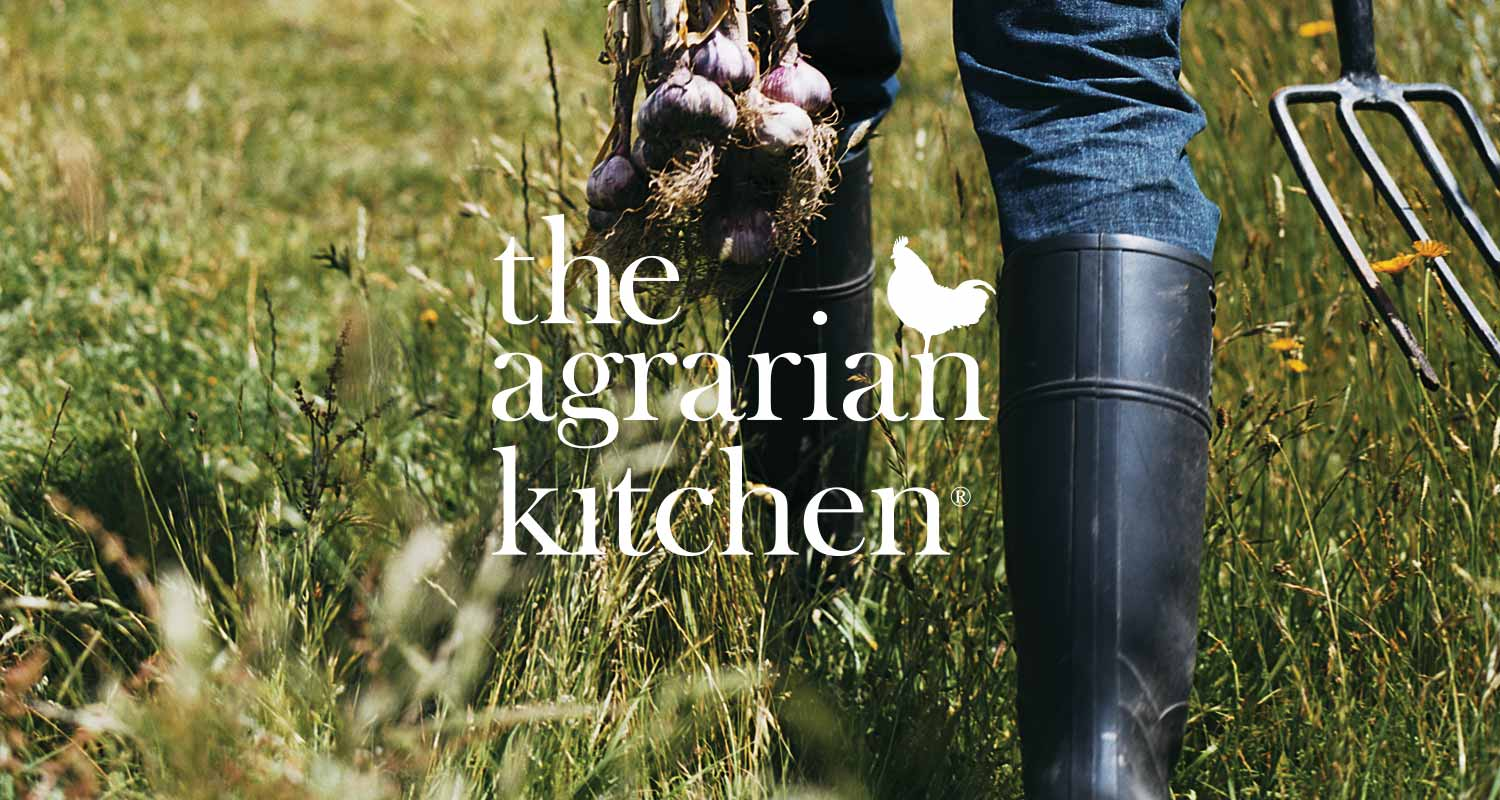 The Agrarian Kitchen identity, designed by Futago